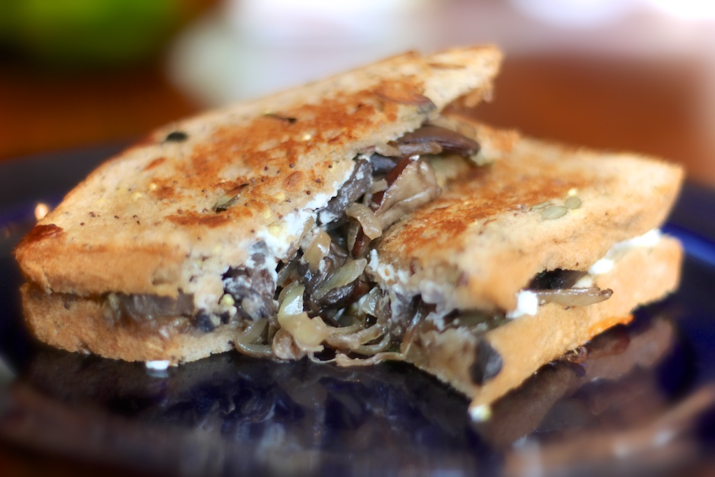 Caramelized Onion & Portobello Grilled Cheese